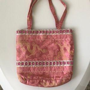 vintage 90s- small silk handbag by express